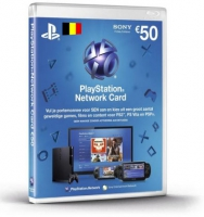 PlayStation Network Voucher Hang Card 50EUR BE (PS4/PS3/PSV)