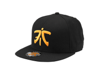 Fnatic Flat Brim Cap Orange Logo Black
