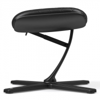 Noblechairs Footrest - Black (Real leather)